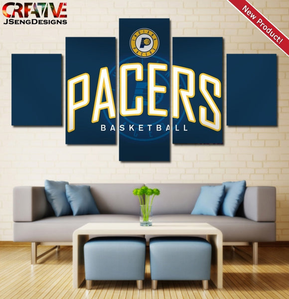 Indiana Pacers Wall Art Canvas Painting Poster Home Decor Framed