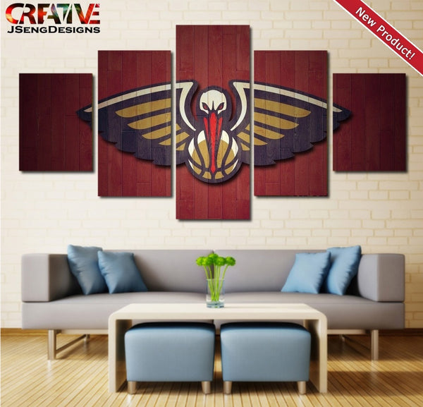 New Orleans Pelicans Wall Art Poster Home Decor Print HD Painting On Canvas.