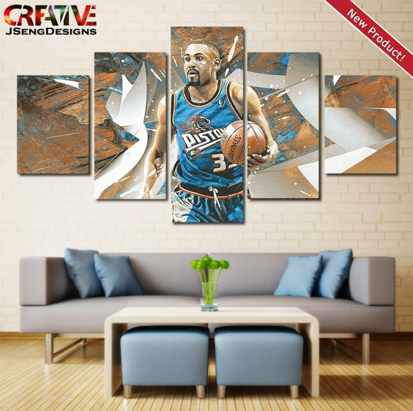 Grant Hill Poster Home Decor Print Detroit Pistons Wall Art Painting Canvas.