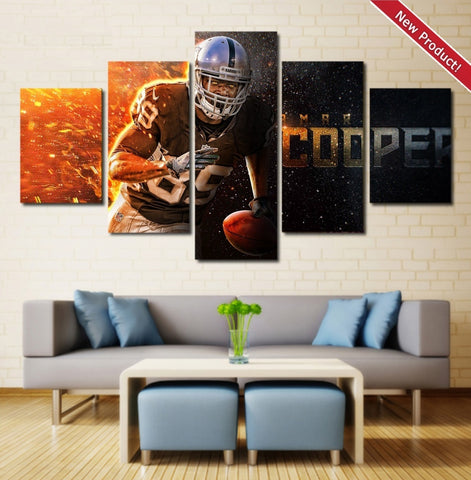 Amari Cooper Wall Art | Canvas Painting Framed