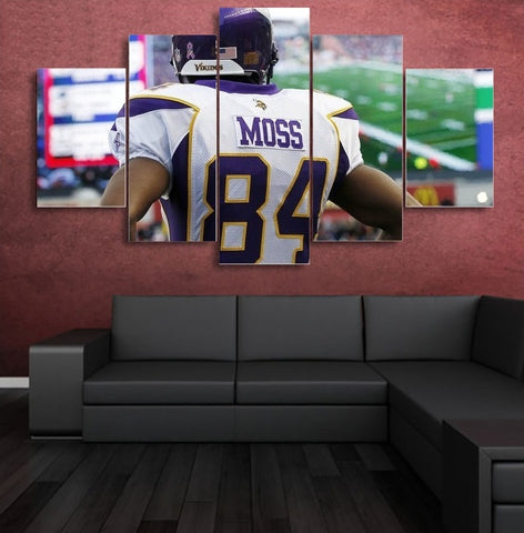 Randy Moss Wall Art | Painting Canvas Framed | Free Shipping