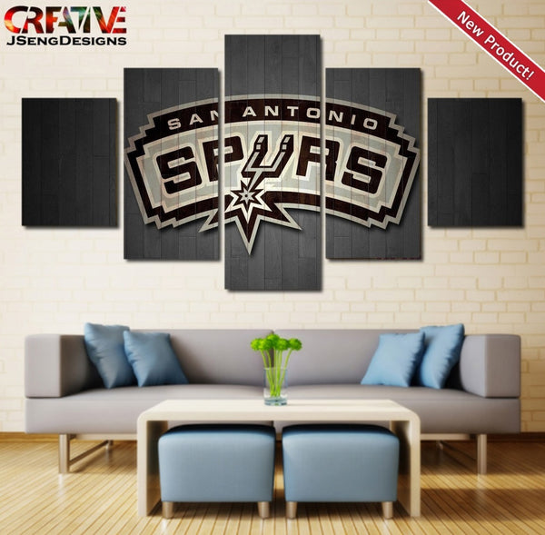 San Antonio Spurs Wall Art Poster Home Decor Print HD Painting On Canvas.