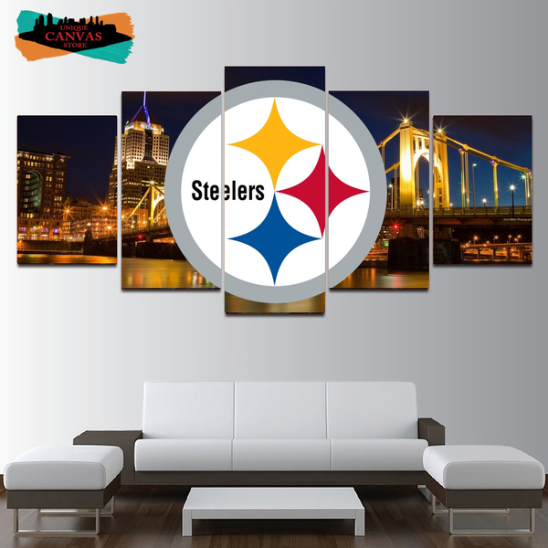 Pittsburgh Steelers Wall Art Painting On Canvas Print Poster HD Home Decor.