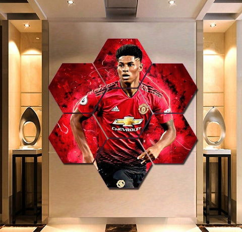 Marcus Rashford Wall Art | Canvas Painting Framed | 50% Off