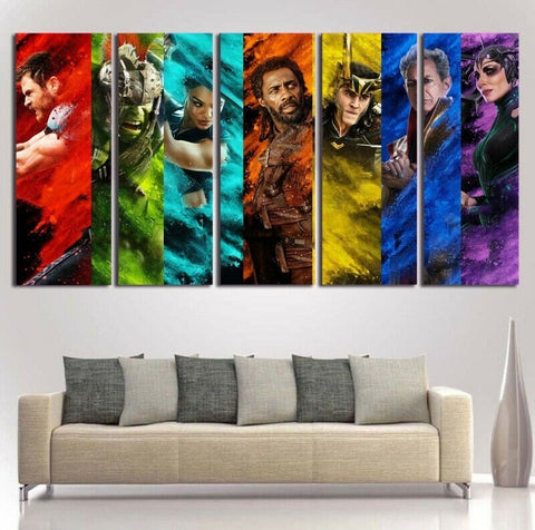 Avengers Thor Ragnarok Wall Art | Canvas Painting Framed