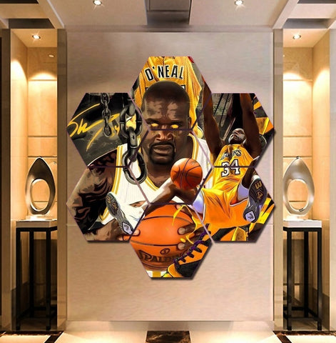 Shaquille O'Neal Wall Art Canvas Decor Poster Framed