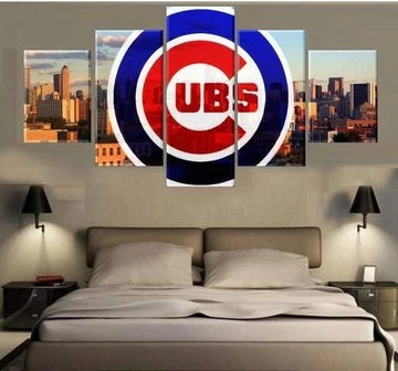 Chicago Cubs Canvas Painting Poster Print Wall Art Framed