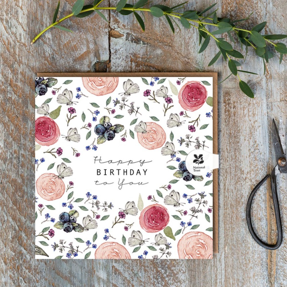 Birthday Card - White Butterfly