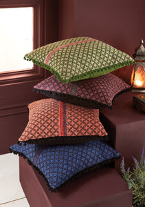 Khadi Cushion Cover - Purple