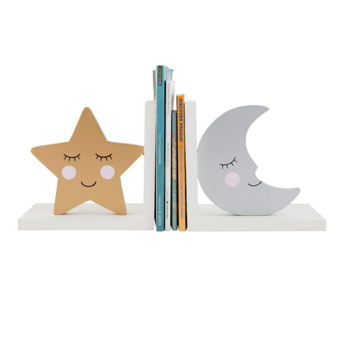 Star & Moon Bookends