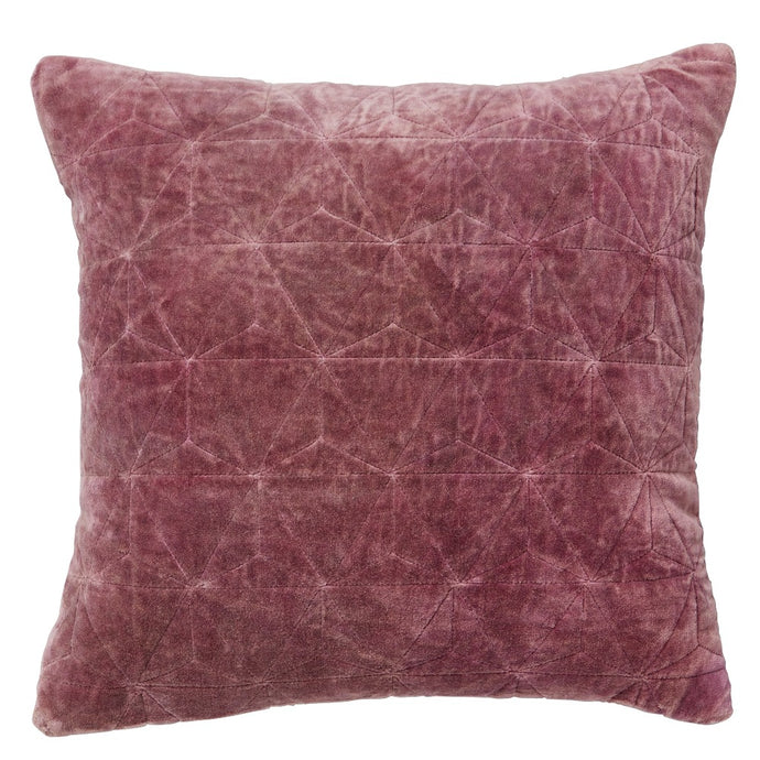 Stonewash Velvet Cushion Cover - Pink