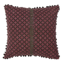 Load image into Gallery viewer, Khadi Cushion Cover - Purple