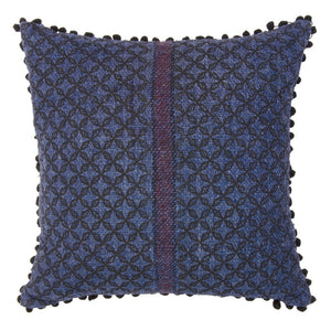 Khadi Cushion Cover - Blue