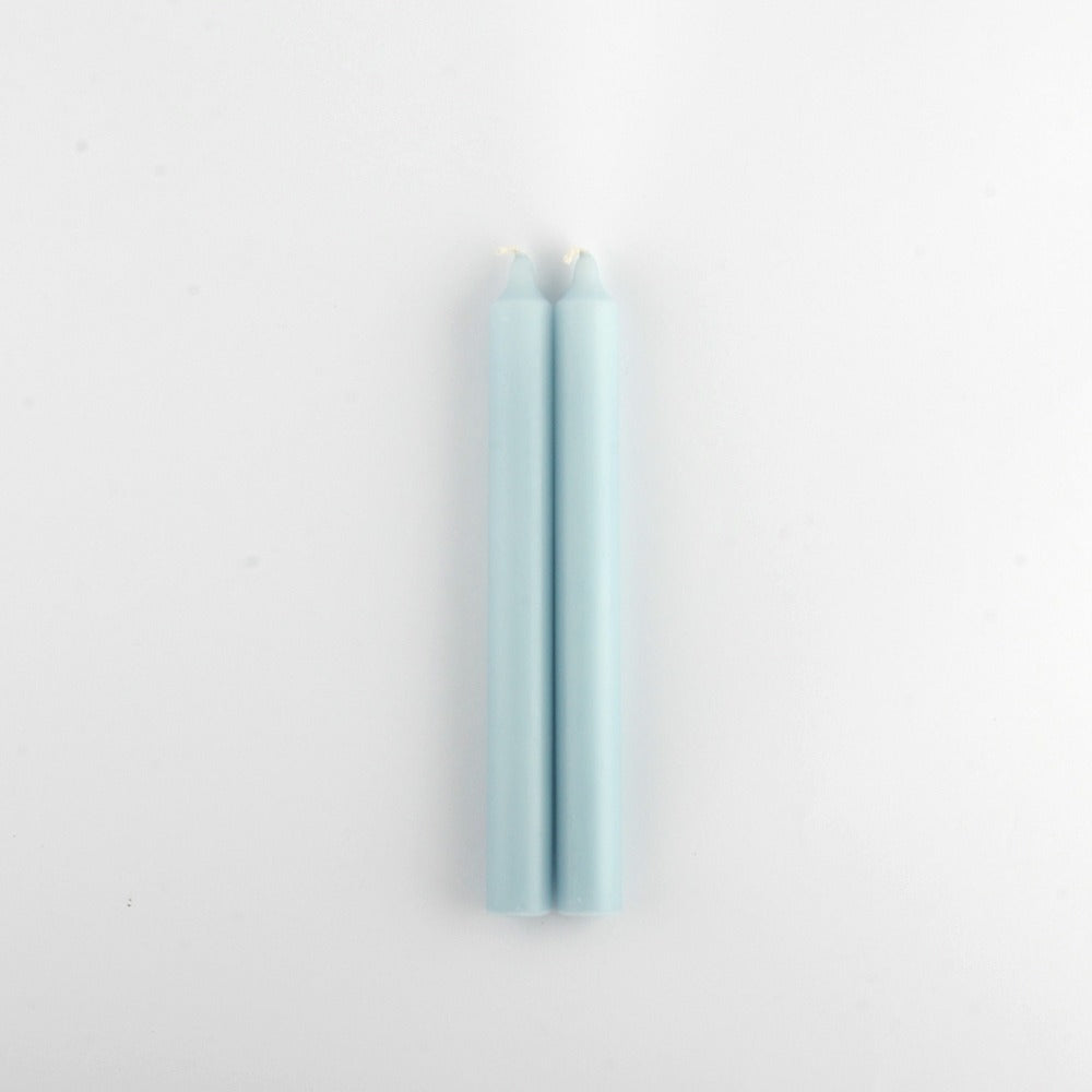 Powder Blue Dinner Candles