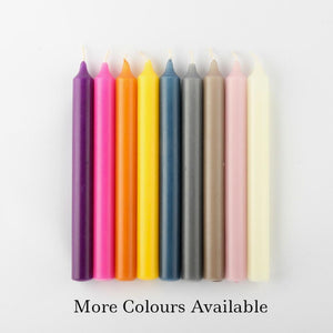 Dinner candles in various colours