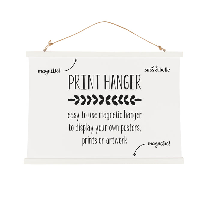 White Print Hanger - Large