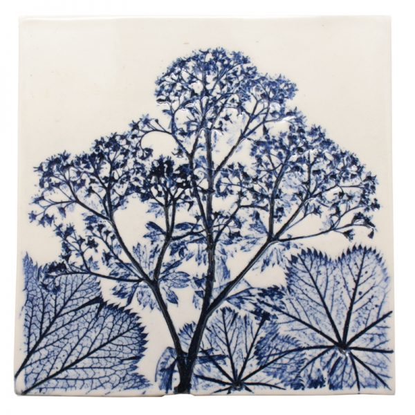 Pressed Leaf Wall Plaque - Blue