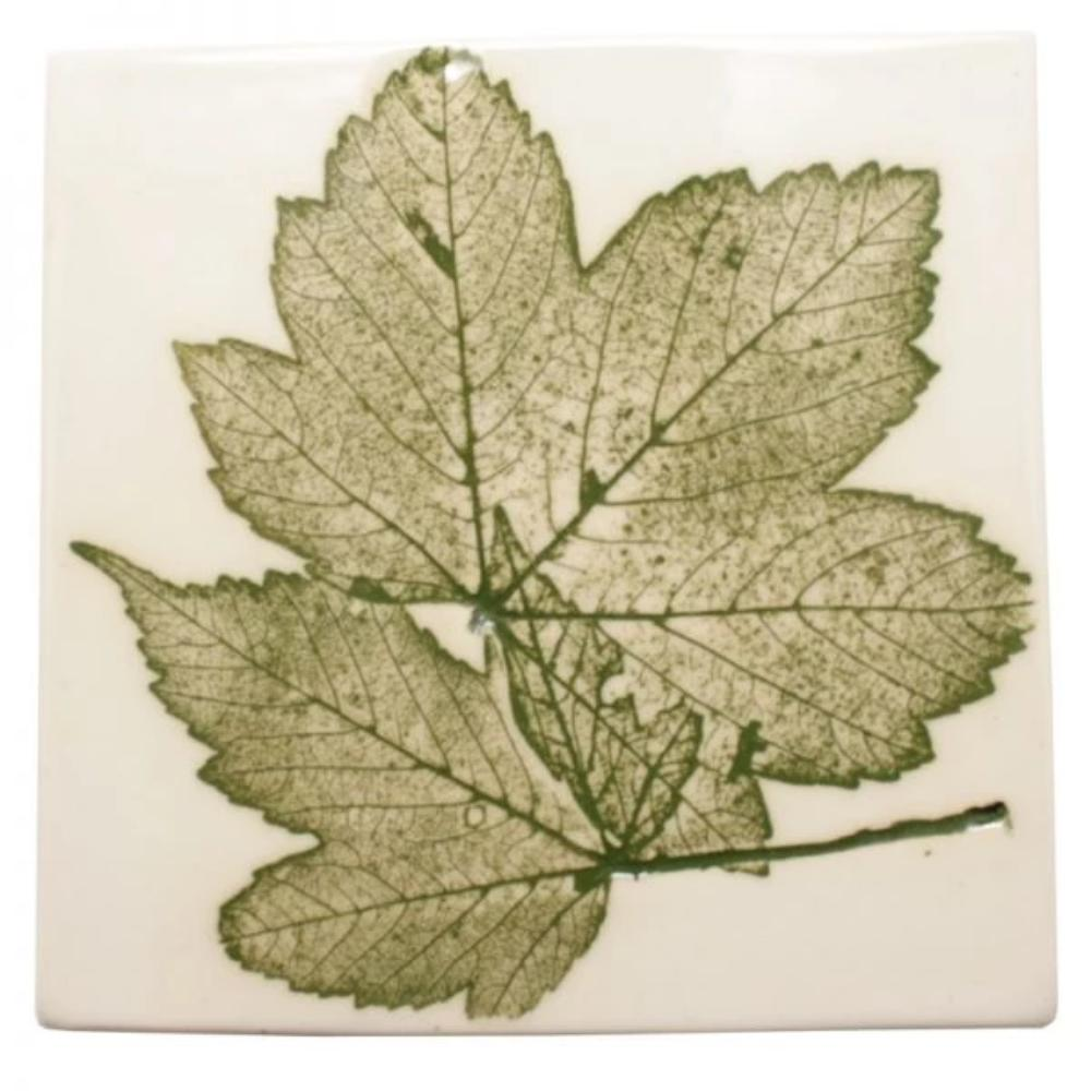 Pressed Leaf Wall Plaque - Green