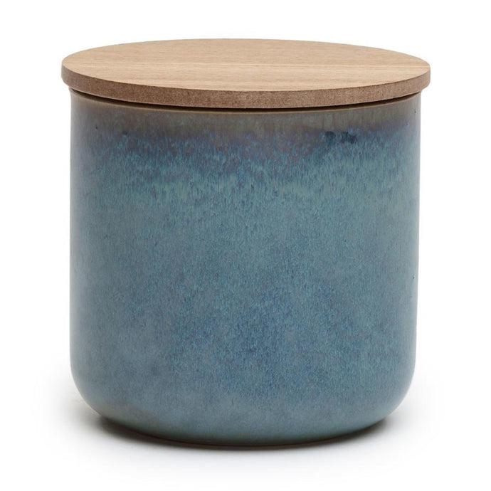 Blue Ceramic Scented Candle - White Tea & Ginger