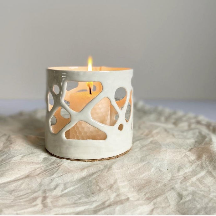 seafoam tealight holder