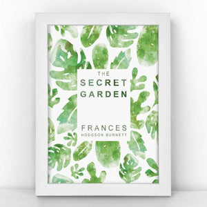 Unframed A5 print featuring a book cover for France Hodgson Burnett's novel The Secret Garden.
