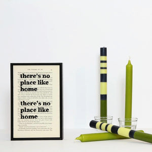 wizard-of-oz-no-place-like-home-quote-book-page-print