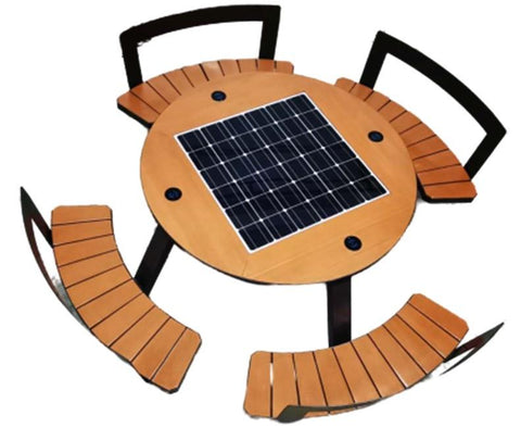 ST1020 SOLAR CHARGING AND CONNECTIVITY PICNIC TABLE