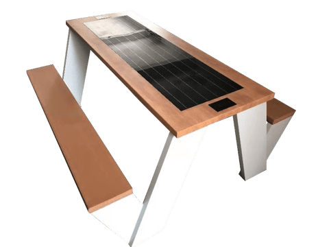 ST1010 SOLAR CHARGING AND CONNECTIVITY PICNIC TABLE - bbq areas, camping, glamping, Outdoor Table, Parks, Picnic Table, Recreational Area, recreational areas, smart bench, Smart Table, Solar charging station | SELS - Smart Era Lighting Systems | Solar Charging Station