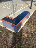 SB1040 SOLAR CHARGING AND CONNECTIVITY STATION BENCH | SELS - Smart Era Lighting Systems | Outdoor Solar Charging Station