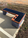 SB1040 SOLAR CHARGING AND CONNECTIVITY STATION BENCH | SELS - Smart Era Lighting Systems | Solar Charging Station for Electronics
