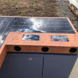 SB1040 SOLAR CHARGING AND CONNECTIVITY STATION BENCH | SELS - Smart Era Lighting Systems | Solar Phone Charging Station