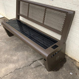SB1020 SOLAR CHARGING AND CONNECTIVITY STATION BENCH | SELS - Smart Era Lighting Systems | Solar Powered Phone Charging Station