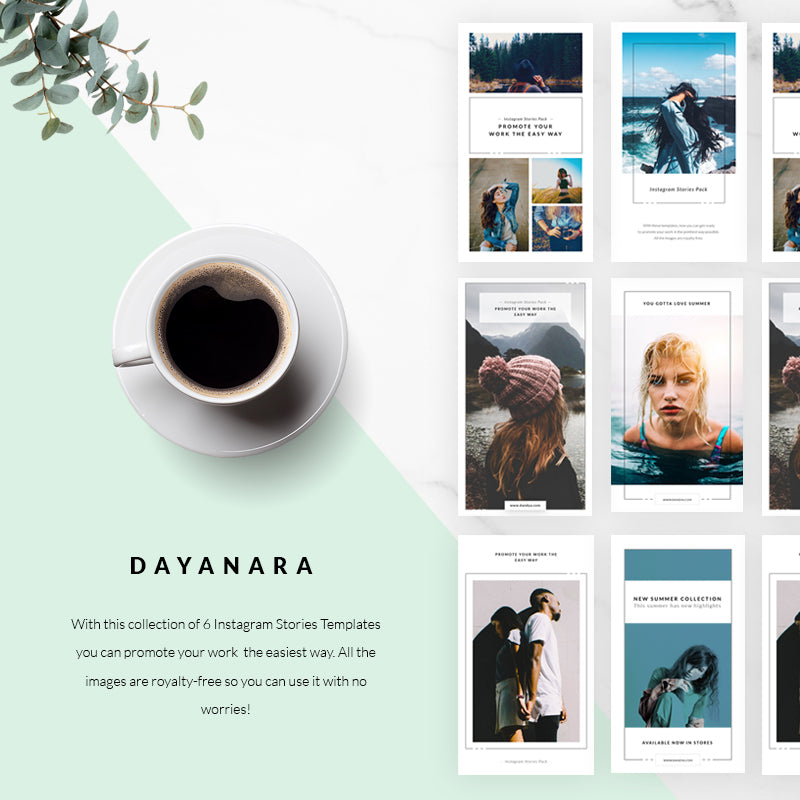 Dayanara Instagram Stories Template