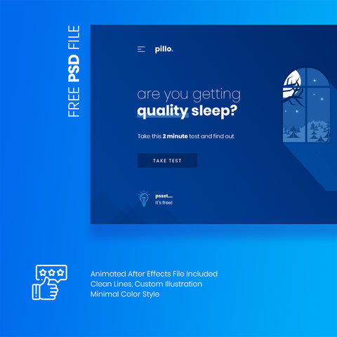 pillo - Beautiful Landing Page PSD