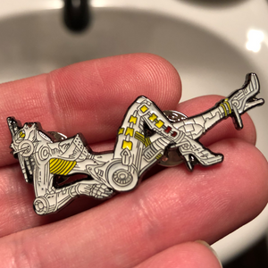 Bride of Pinbot (BoP) Enamel Pinball Pin