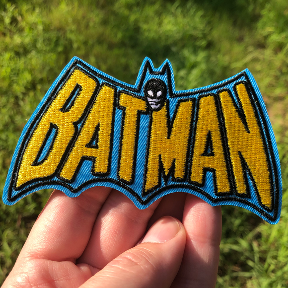 Batman Old Skool Logo Patch