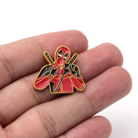 Deadpool Hearts You Enamel Pin