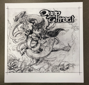 "Fathom Pinball Concept Backglass Artwork Print ""Deep Threat"" (Signed & Limited Edition)"