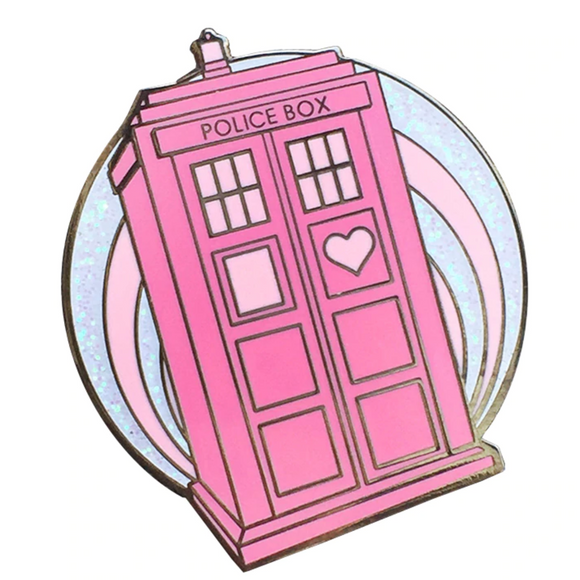 Doctor Who Pretty Police Box Enamel Pin