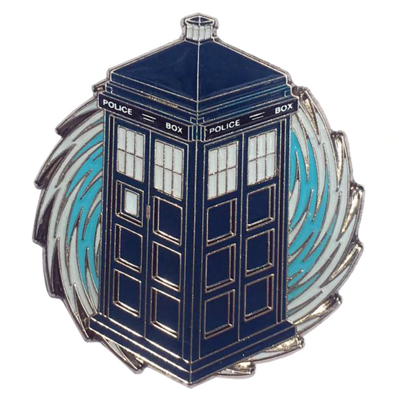 Doctor Who Swirl Enamel Pin