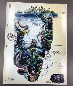 Fathom Pinball Playfield Concept Artwork Print (Signed & Limited to 250)
