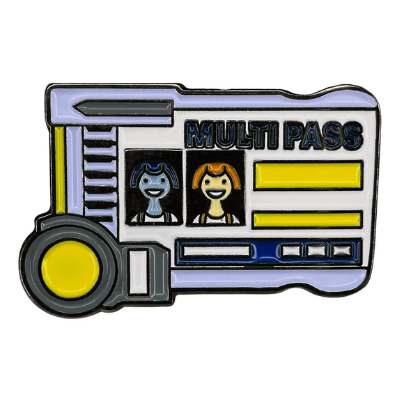 The Fifth Element Multipass Enamel Pin