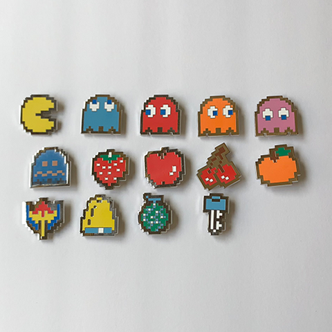 Image of Pacman Enamel Pin Set (14 pins)