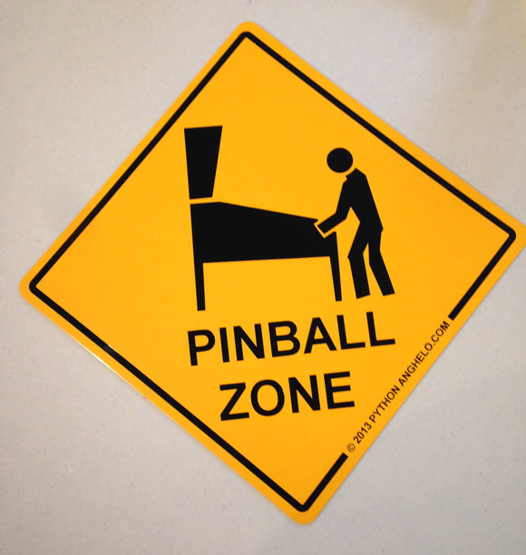 Pinball Zone Sign