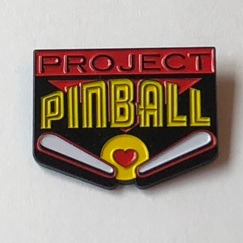 Project Pinball Enamel Pin