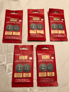 Super Mario Bros Collectible Coin Blind Bag/Pack x5 - Thinkgeek Nintendo