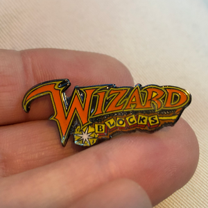 Wizard Blocks Pinball (P2K) Enamel Pin