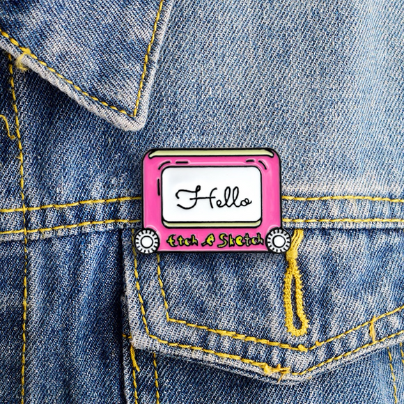 Etch-a-Sketch Retro Enamel Pin