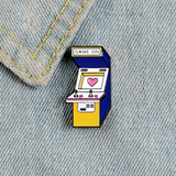 Game On Arcade Cabinet Pin