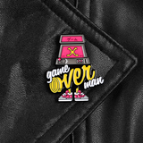 Game Over Man Arcade Enamel Pin